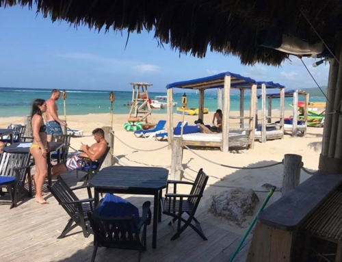 Stopped for lunch and some sparkling sun and beach time at Bamboo Blu, Ocho Rios.  Change your World by sharing Ours…this is how we do it!
