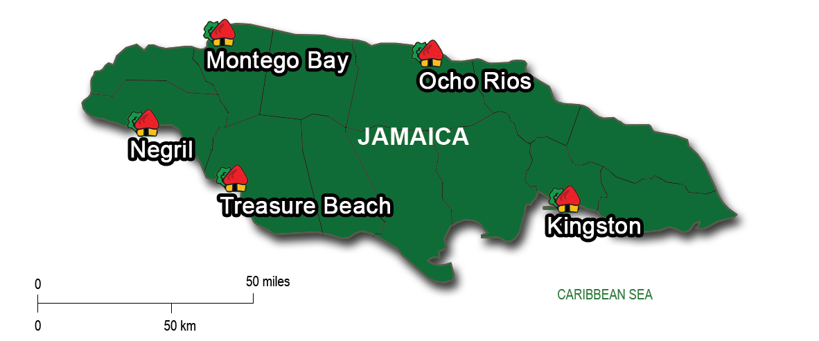 10-Day: Montego Bay,Negril,Treasure Beach, Kingston & Portland
