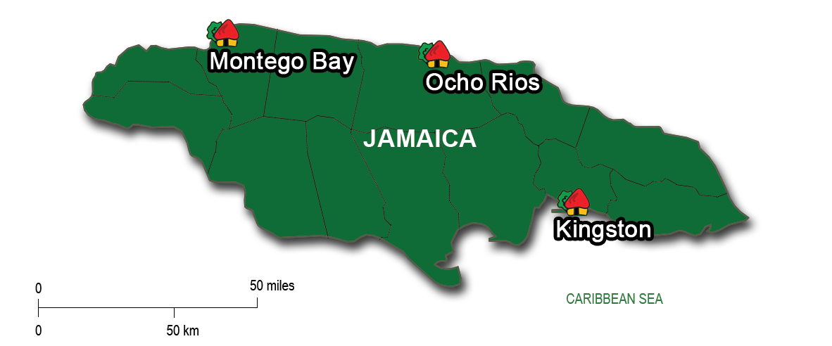 From Montego Bay to Ocho Rios & Kingston