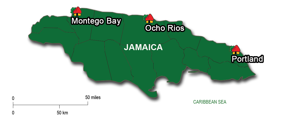 From Kingston to Ocho Rios & Portland