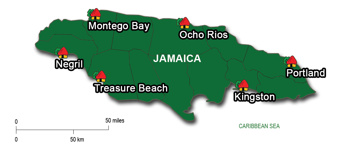 15-Day: Montego Bay,Negril,Treasure Beach, Kingston,Portland & Ocho Rios